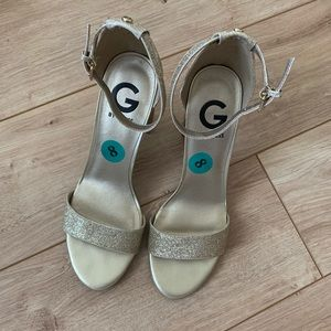 G by Guess Gold Heels